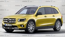 Mercedes GLB, il rendering