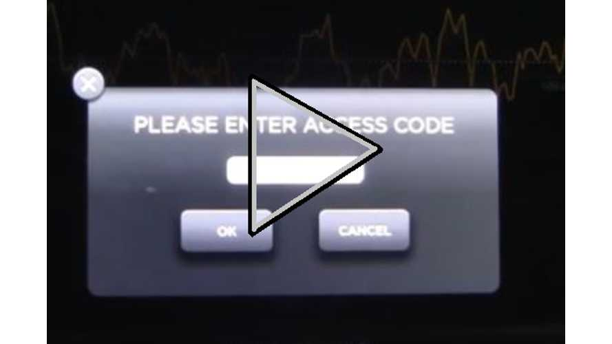 "Video: Accessing Tesla Model S ""Hidden Menus"""