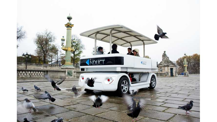 Induct Technology Demonstrates Autonomous Electric Vehicle Navia in Europe (w/videos)