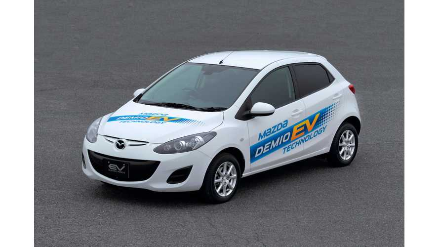 Range-Extended Mazda 2 EV Gets Driven - Gas Tank Capacity and REx Location Are Identical to BMW i3