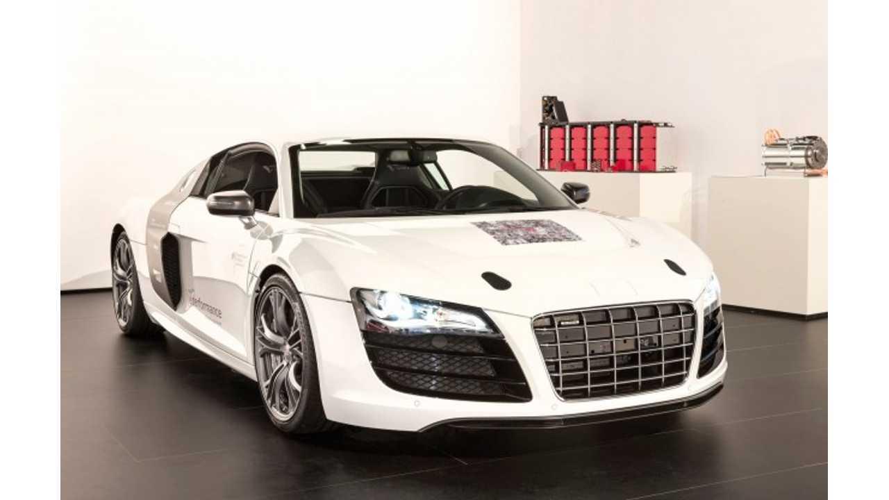 Audi e Performance Research Debutes F12 Prototype Electric Sports Car (Video)