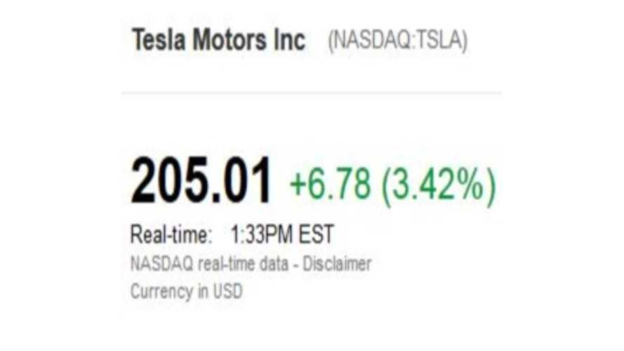Tesla Stock Hits $206 One Day Before 2013 Earnings Call
