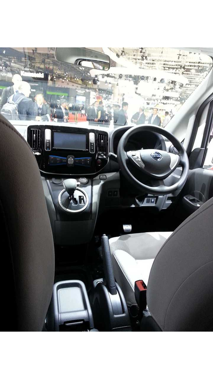 Significant Changes Were Noted In The e-NV200's Interior Over The Original Concept At The Tokyo Motor Show Late Last Year