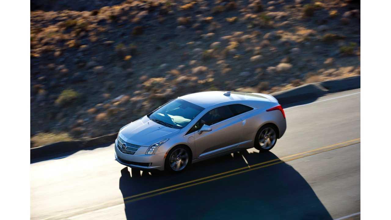 Cadillac ELR top driving