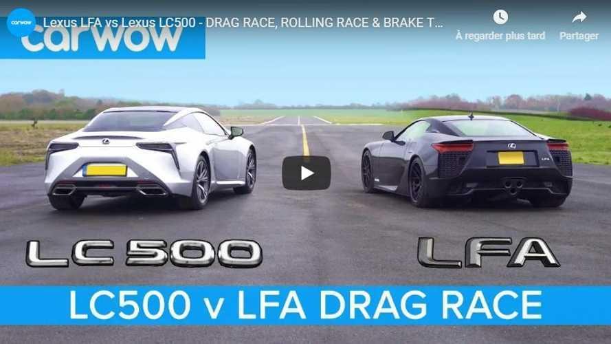 VIDÉO - La Lexus LFA atomise littéralement la LC 500