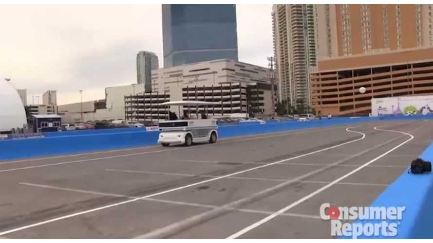 Induct Technology Demonstrates Self-Driving Shuttle At CES 2014 (w/videos)