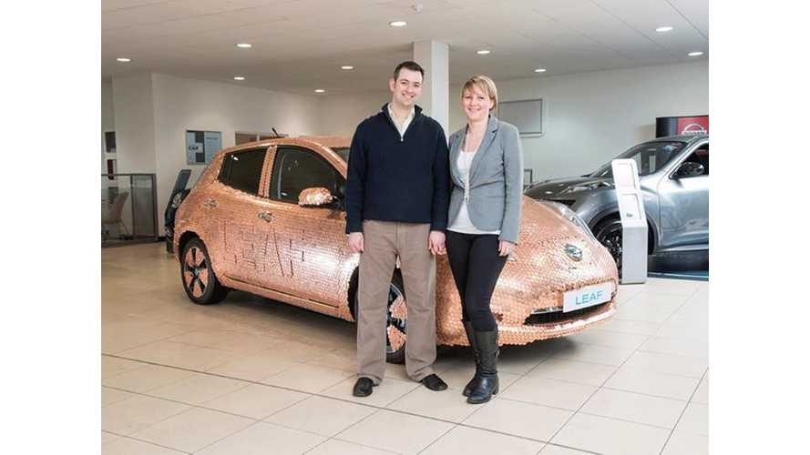 "Nissan Features 100,000th LEAF Owner - A British Dentist, Makes Special 100K ""Coin"" LEAF"