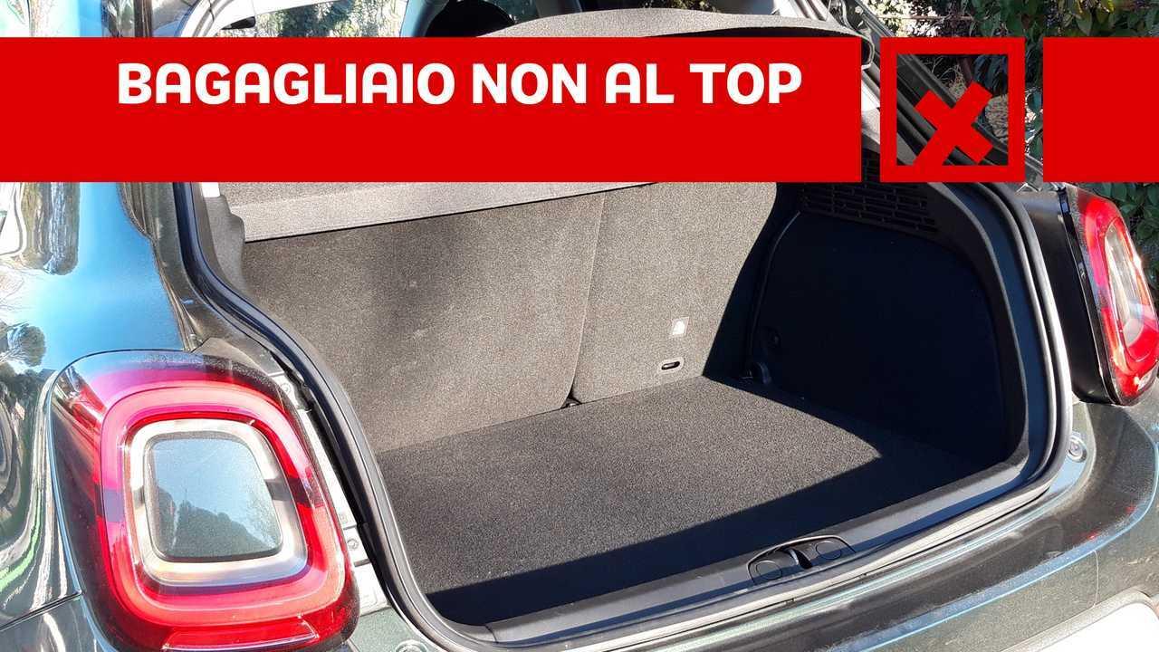 Fiat 500X Cross 1.3 T4 150cv DCT, contro BAGAGLIAIO