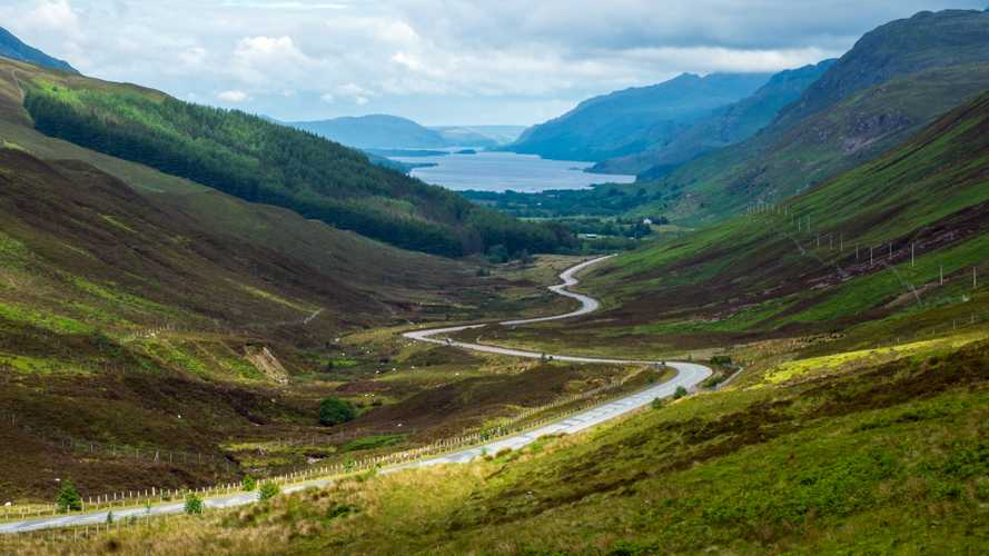 View of Loch Maree on the north coast of Scotland