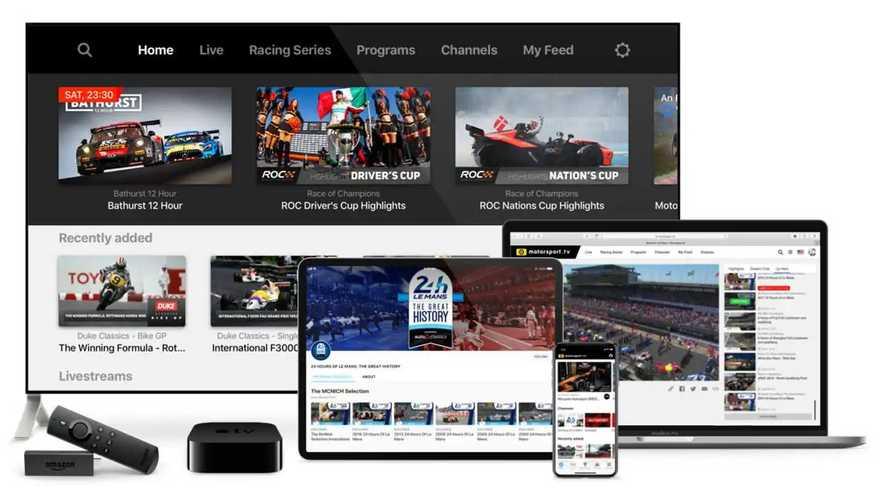 motorsport.tv freemium key visual