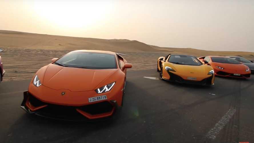 Descubre cómo son las carreras ilegales de millonarios en Dubái