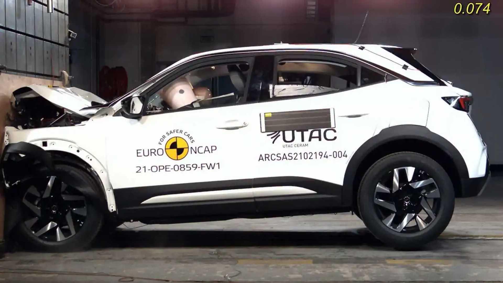 Opel Mokka 2021, i crash test di EuroNCAP