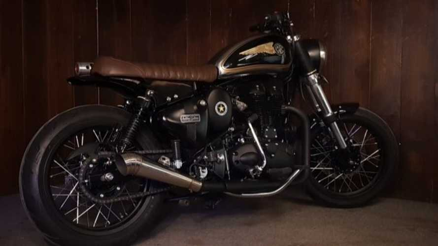 This Custom Royal Enfield Classic 500 Has Built Some Muscle