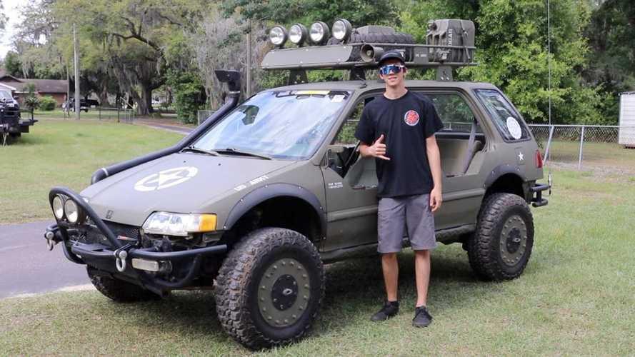 """Honda Civic """"War Wagon"""" dengan Ban 30 Inci, Bukan Rakitan Biasa"""