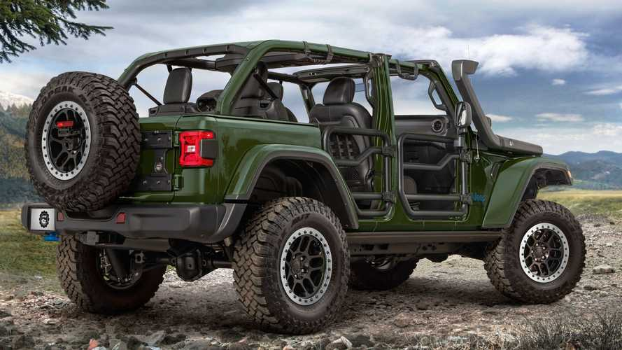Jeep Wrangler 4xe Gets 2-Inch Lift Kit And Branded Charger