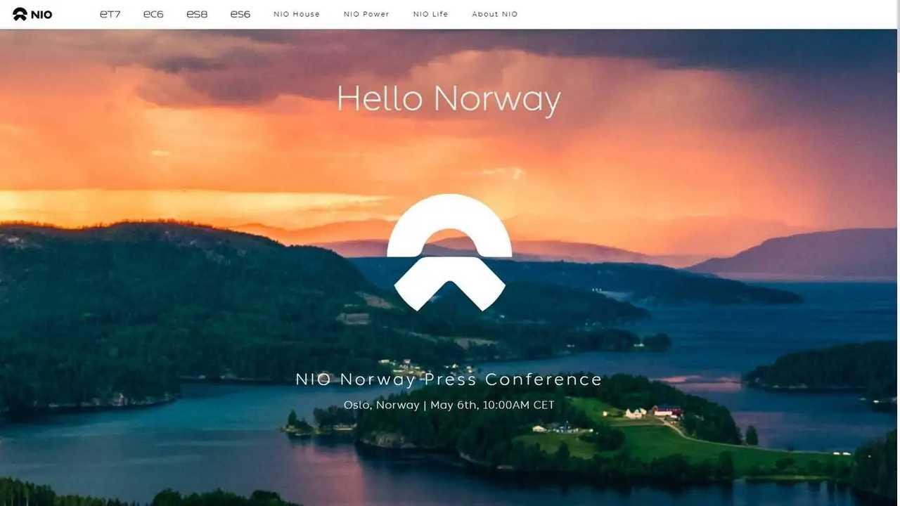 Nio startet den Vertrieb in Norwegen