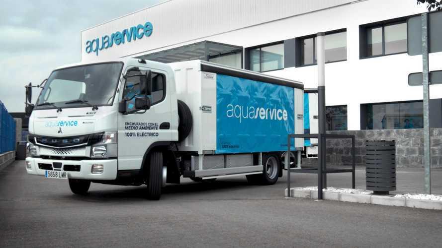 Fuso eCanter debutta in Spagna nel trasporto bevande