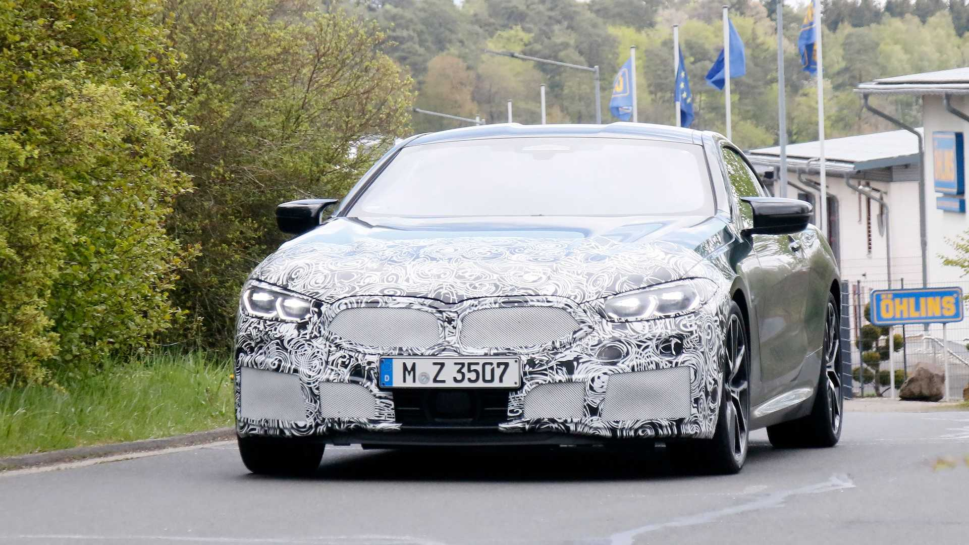 Restyled BMW 8 Series Coupe spy photo