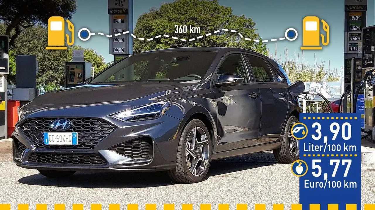 Hyundai i30 1.0 T-GDI mit Mildhybrid-System im Verbrauchstest