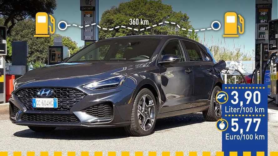 Tatsächlicher Verbrauch: Hyundai i30 1.0 T-GDI 48 Volt im Test