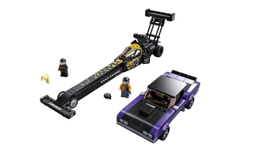 Lego SRT Top Fuel Dragster e 1970 Dodge Challenger
