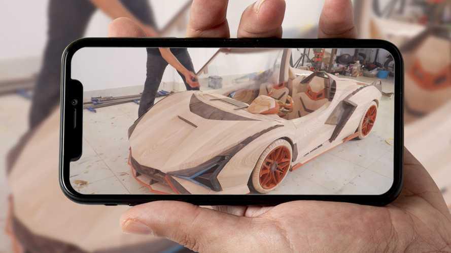 Lamborghini Sian, l'incredibile modellino (funzionante) in legno