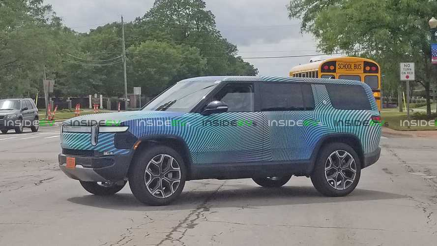 Rivian R1S Spotted Testing Around Detroit Still Wearing Camouflage