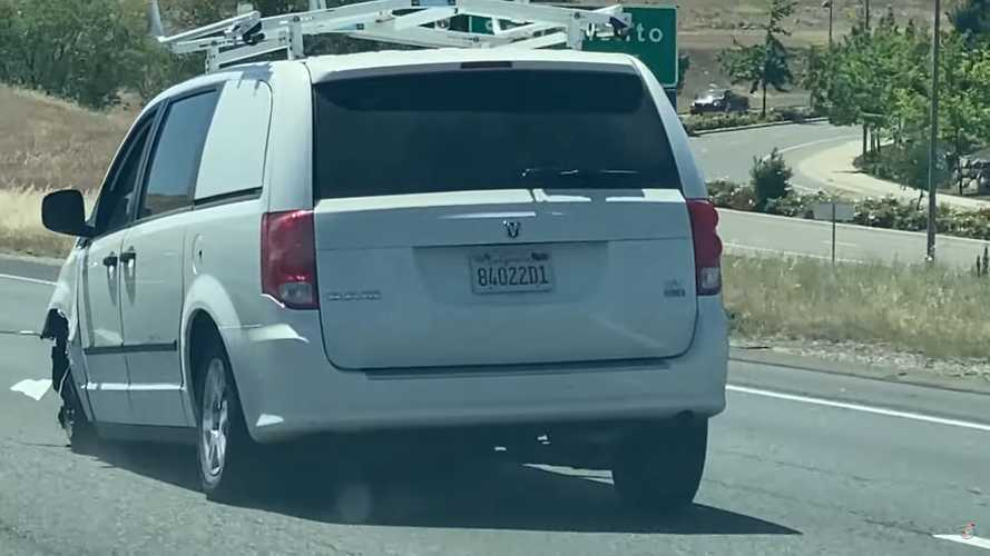 Ram C/V Spotted Driving Without A Tire As If Nothing's Wrong