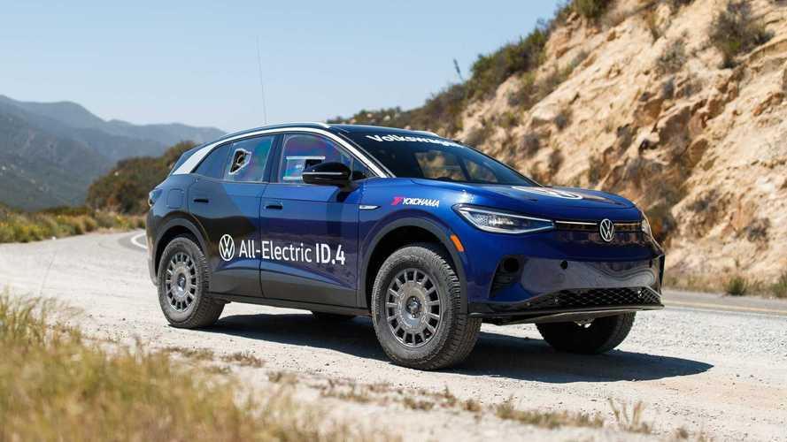 Volkswagen ID.4 elétrico preparado completa prova de off-road