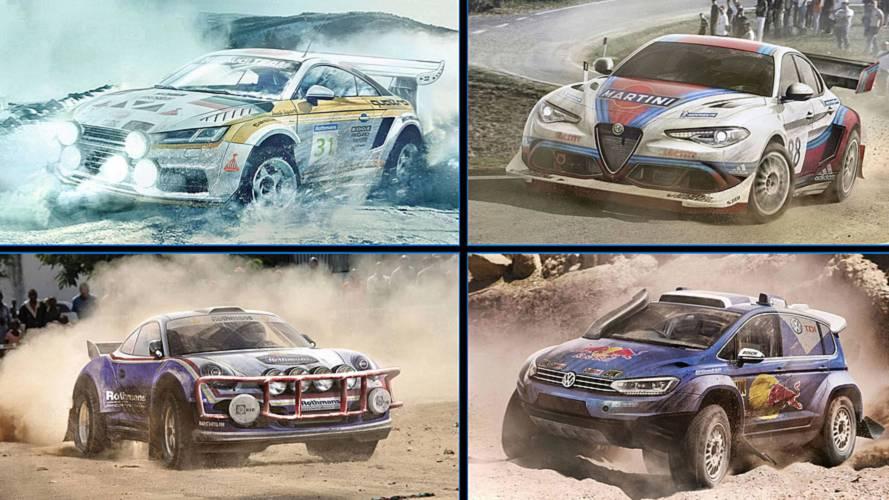 10 coches de calle transformados en vehículos de rally