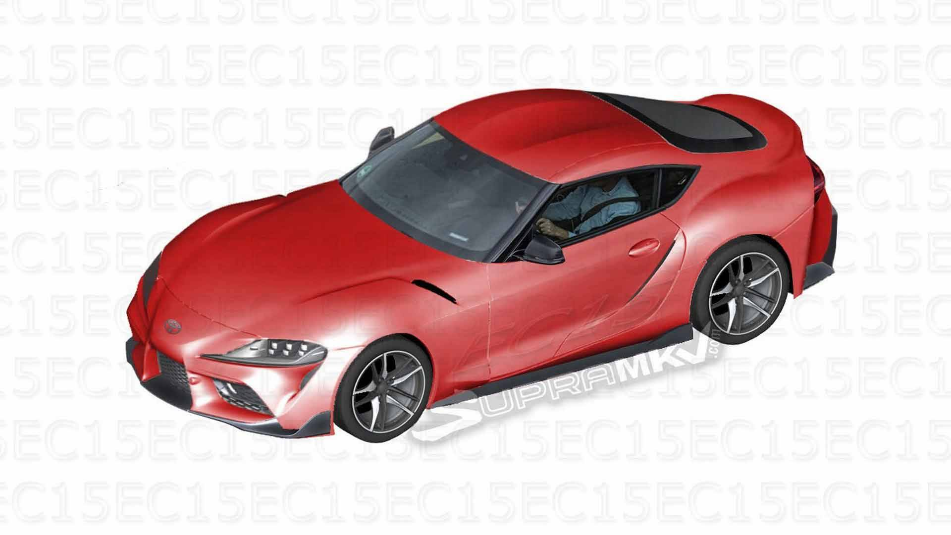 951577451f5 Toyota Supra Renders Blossom From Leaked Parts Guide Images