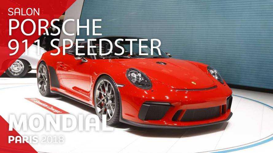VIDÉO - La Porsche 911 Speedster Concept en direct du Mondial 2018