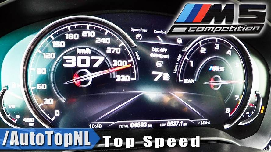 Watch BMW M5 Competition Accelerate Like A Supercar To Top Speed