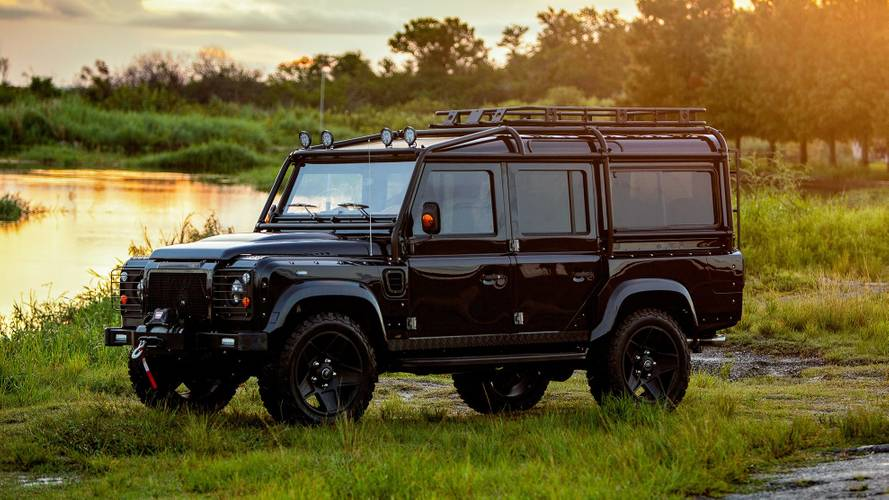 Corvette-Powered Land Rover Defender Is Beautiful In Black