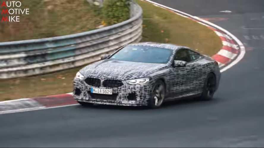 BMW M8, Nürburgring'de hızlı turlar atarken görüntülendi