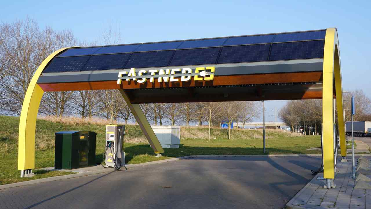 Fastned charging station for electric cars in the Netherlands