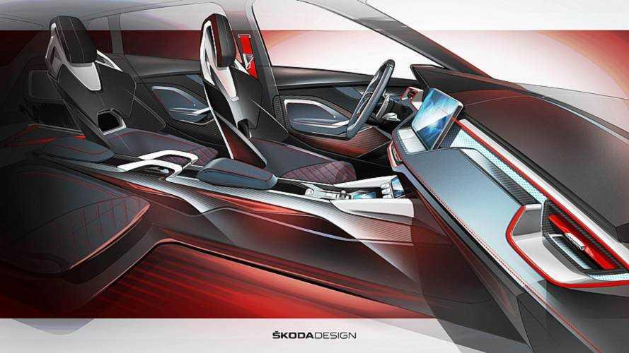 Skoda Vision RS teasers