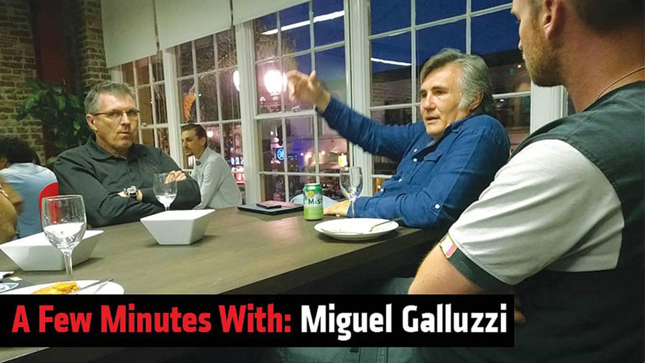 A Few Minutes With: Miguel Galluzzi