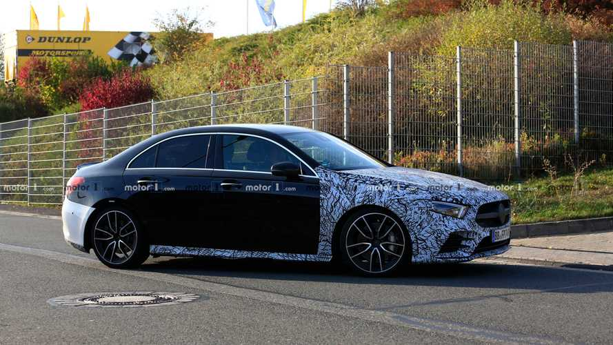 Mercedes-AMG A35 saloon spied looking sharp