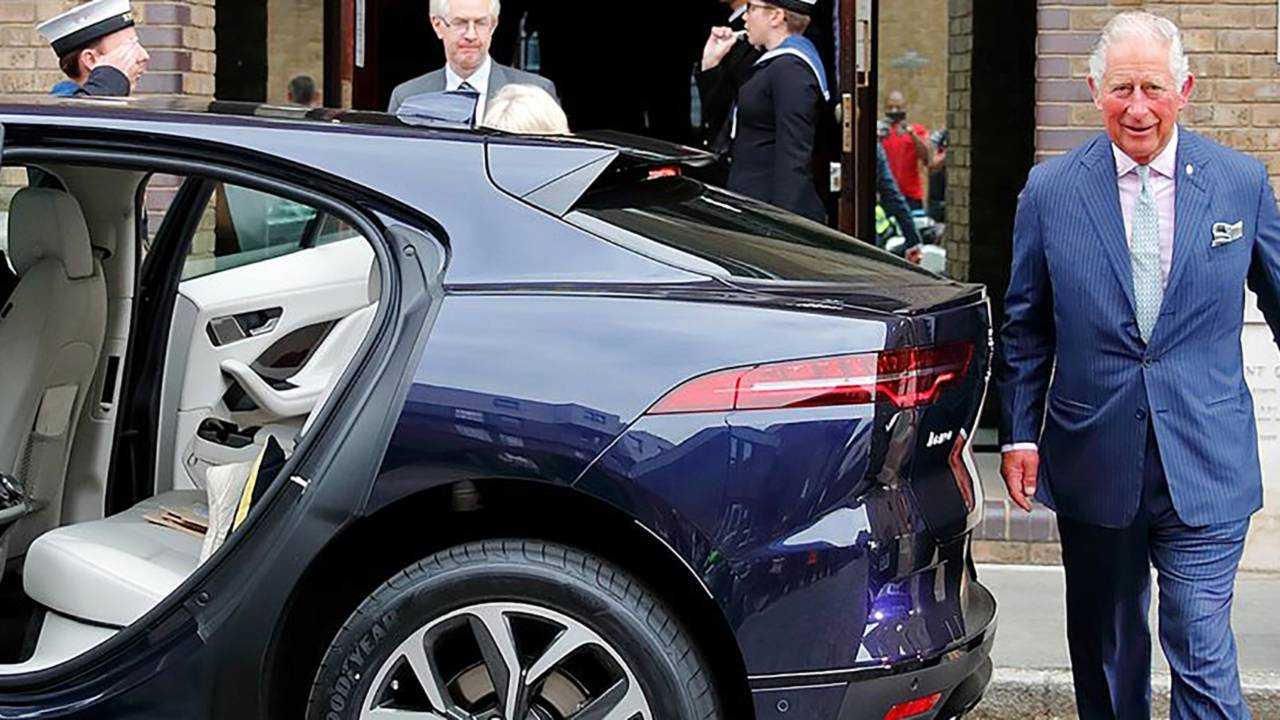 Jaguar I-Pace e Principe Carlo d'Inghilterra