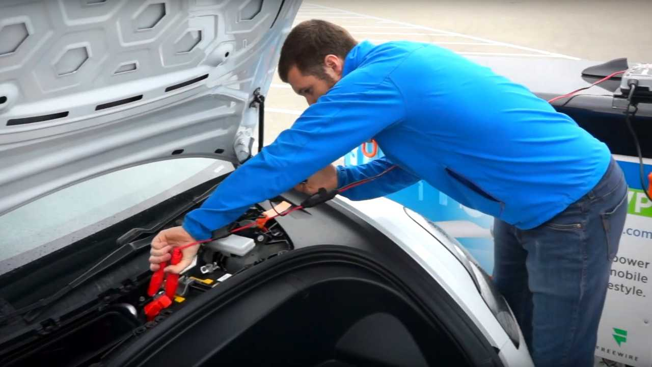 FreeWire Shows How To Revive A Discharged Tesla Model 3 ...