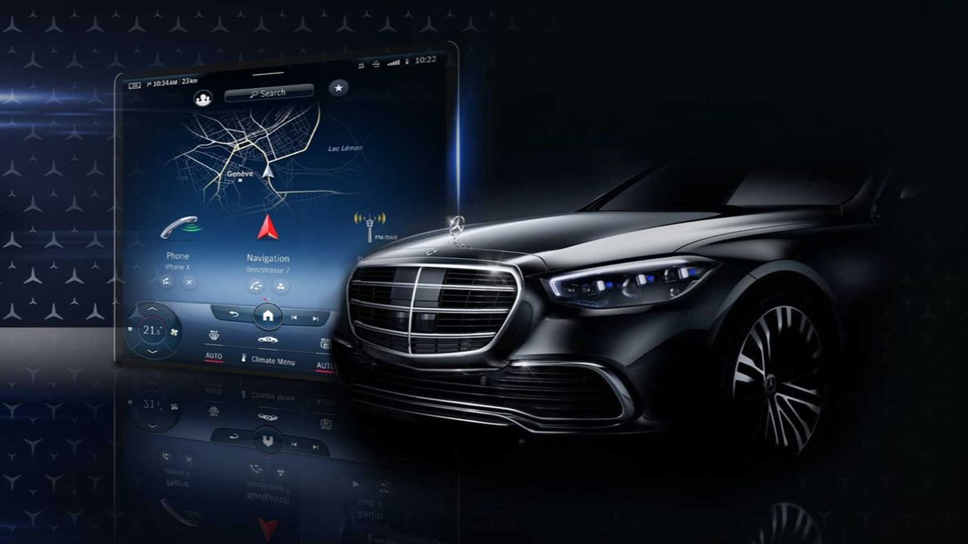 2021 Mercedes S-Class Interior Teased, Big MBUX Reveal Due July 8