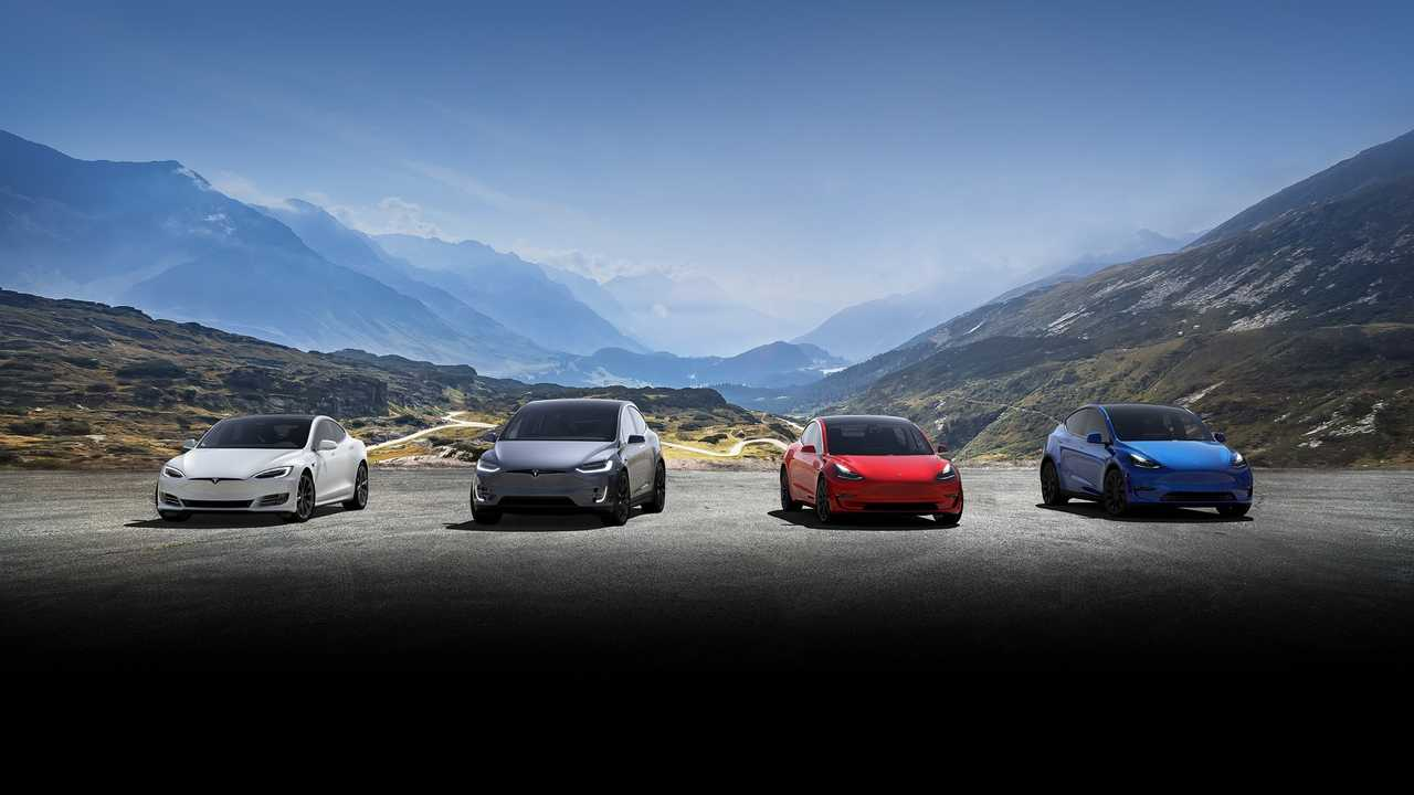 Tesla Model S, Model X, Model 3 and Model Y