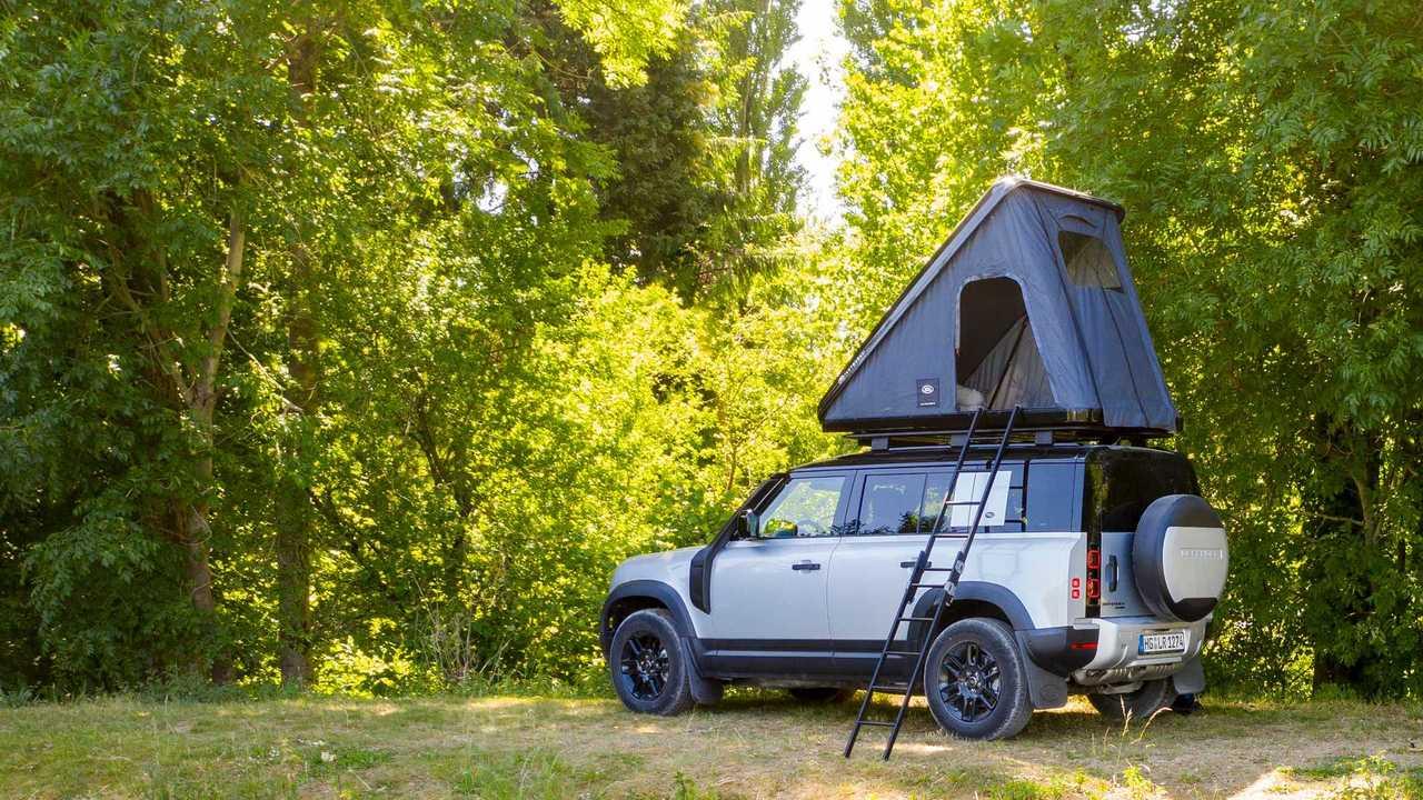 Палатка на крыше Land Rover Defender