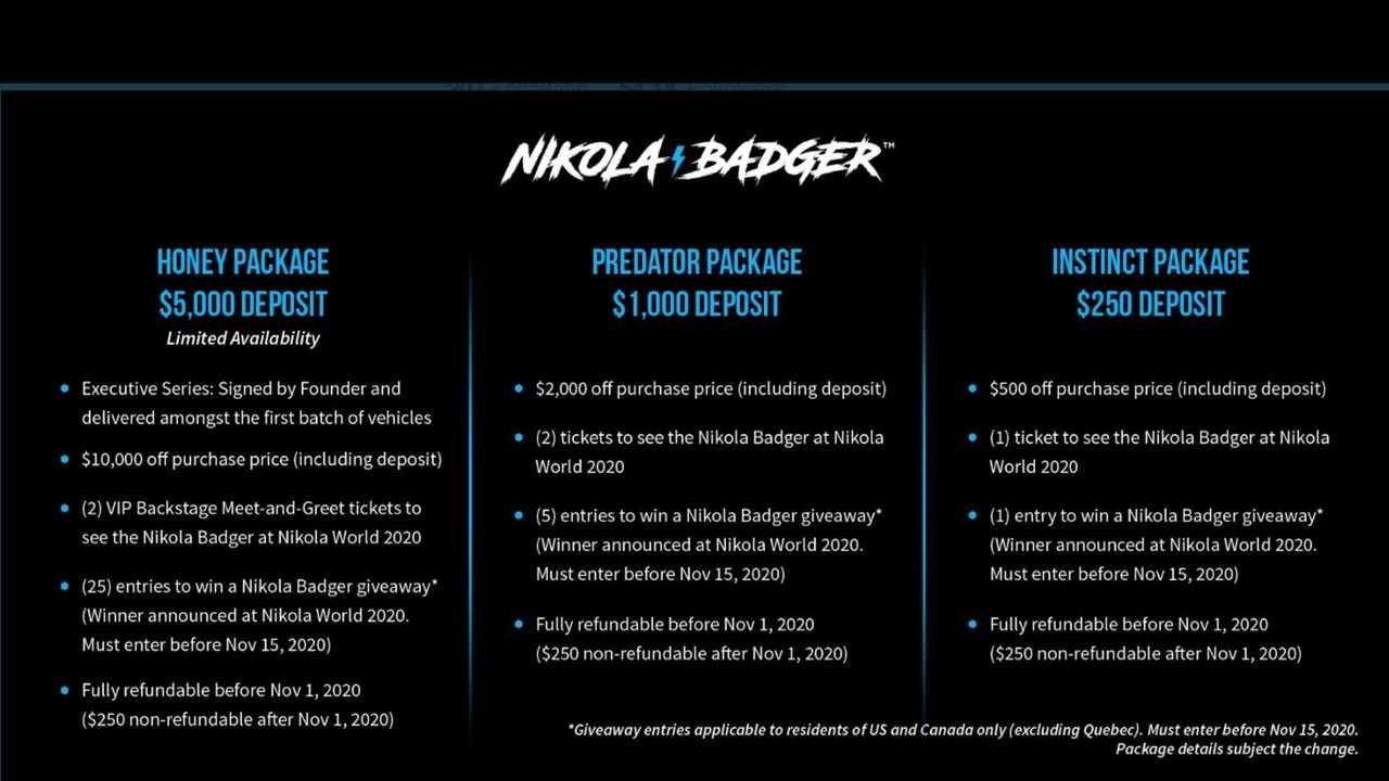 Reservation Website For Nikola Badger Will Go Live At 11 AM ET