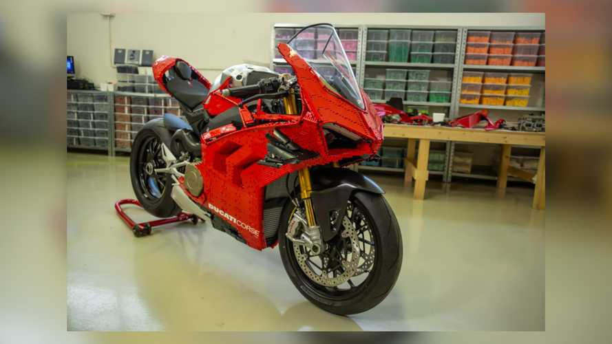 Life-Sized LEGO Ducati Panigale V4 R Is Twice The Toy Of Your Dreams