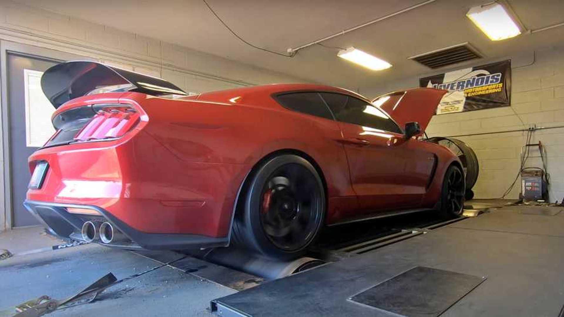 Shelby Mustang GT350 On Flex Fuel Gains 50 Wheel Horsepower