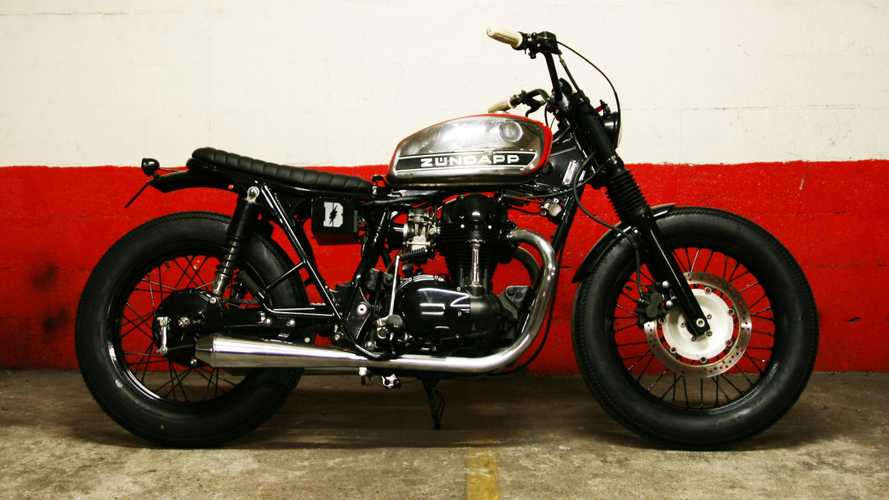This Kawasak W650 Has Been Modified To Pay Tribute To The Zundapp KS