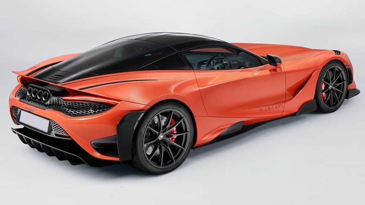 Illustration McLaren 765LT à moteur avant