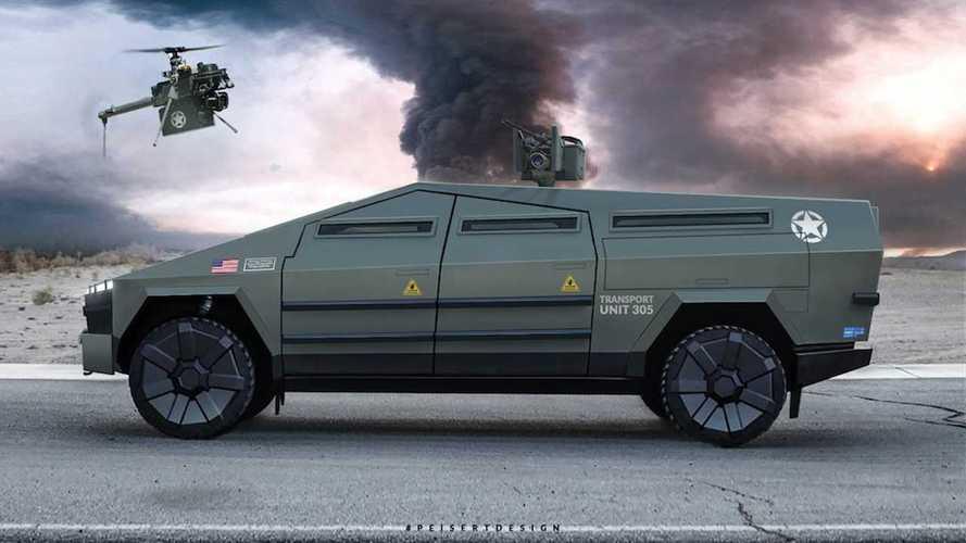 Ilyen lenne a Tesla Cybertruck, ha katonai célokra használnák